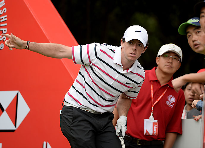 According to the Associated Press, this is the first time since McIlroy won in Dubai last November that he has been in the outright lead after any round.