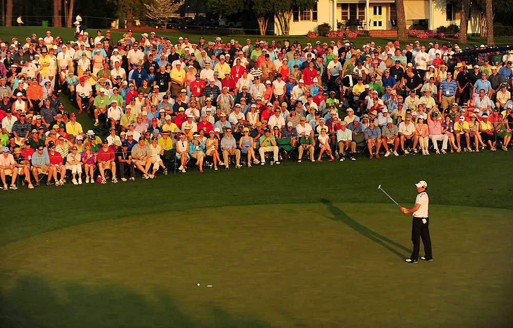 McIlroy narrowly missed a birdie putt on 18 on Saturday, but still took a four-shot lead into the final round.