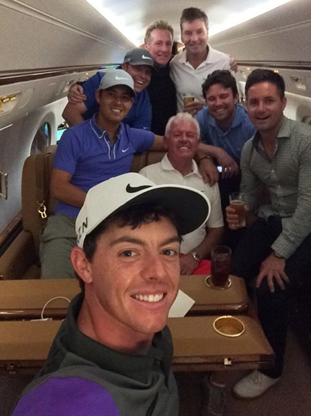@McIlroyRory Flying high with the team after my 4th Major victory!!! NYC here we come!! Thanks for all the support and well wishes