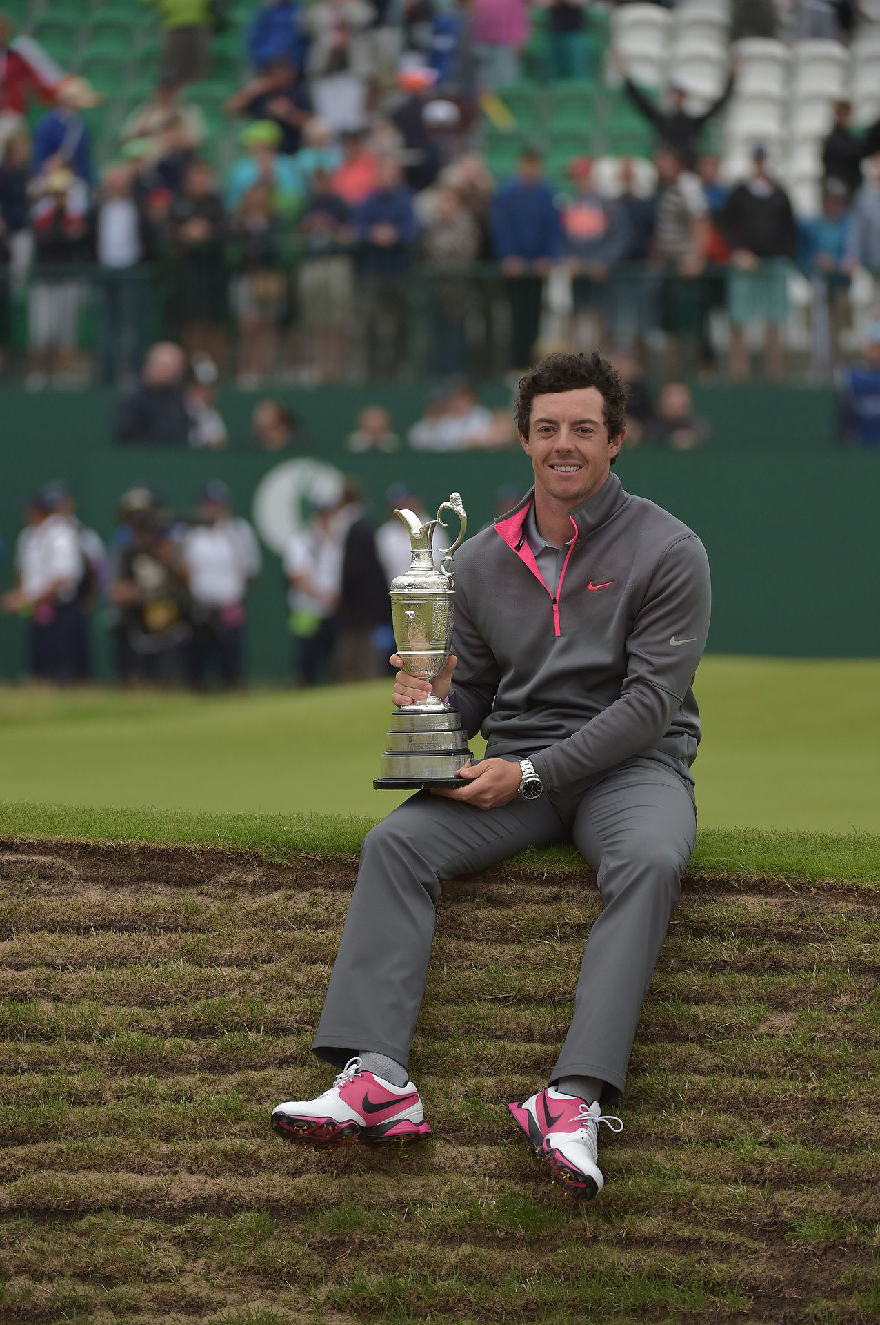 After a tie for 23rd at the U.S. Open, Rory shot back-to-back 66s in the first two rounds of the British Open at Royal Liverpool. He held off Sergio Garcia and Rickie Fowler on Sunday by two shots to win his third career major.