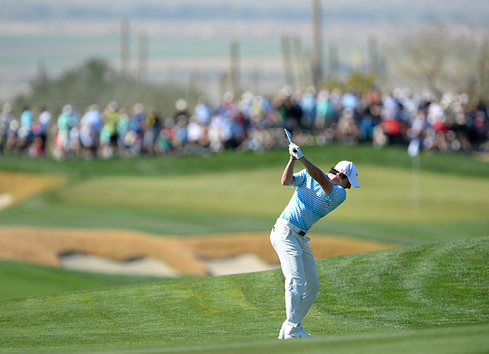 McIlroy and English went back and forth all day.