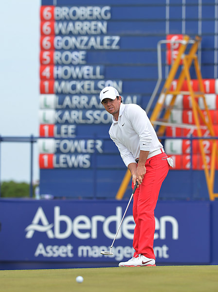 Rory McIlroy recovered from a poor second round to shoot a three-under 68 on Saturday.