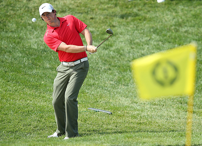 Rory McIlroy struggled on Thursday.