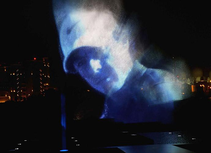 The ceremony surrounding Nike's announcement included a hologram of McIlroy.