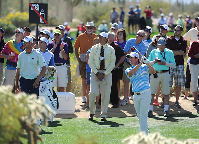 On day two, Rory McIlroy suffered a loss to Harris English on the 19th hole of their match.