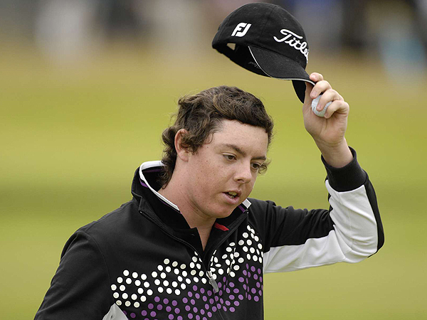 Rory McIlroy, an amateur from Northern Ireland, shot an impressive three-under 68. He appeared so composed that few people would believe that he turned 18 in April.
