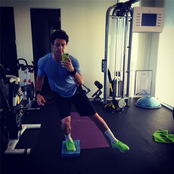 @rorymcilroy Doing some balance and corrective work this morning #betterneverstops
