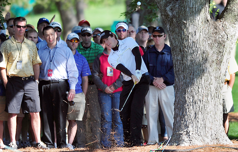 In his first PGA Tour event since the meltdown at the Masters, McIlroy teed off as the defending champion at Quail Hollow. But he shot 75-72 and missed the cut.