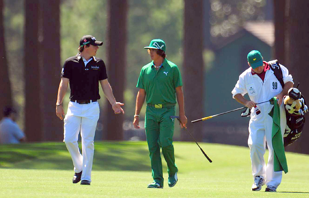 McIlroy was paired with fellow rising star Rickie Fowler for the first two rounds at the season's first major, the Masters.