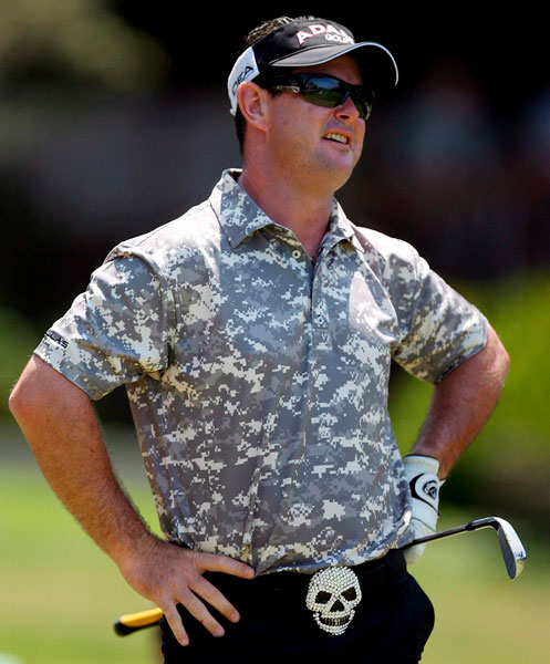 "Rory SabbatiniThe South African injured a rib when he sneezed on the 14th hole during this year's Valspar Championship. Sabbatini treated the injury with ice but finished with a 78. Asked why he kept playing, Sabbatini said, ""I needed the FedEx Cup points."""