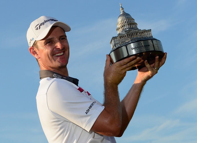 Justin Rose defeated Shawn Stefani on the first playoff hole to capture the Quicken Loans National title at Congressional Country Club in Washington, D.C. on Sunday.