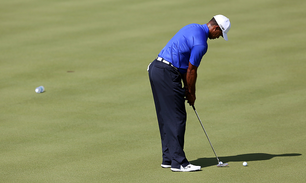 Tiger Woods took to Kiawah Island's Ocean Course Monday to prepare for the 2012 PGA Championship. Woods, who has three wins and six top tens in 2012, hasn't won a major since the 2008 U.S. Open.