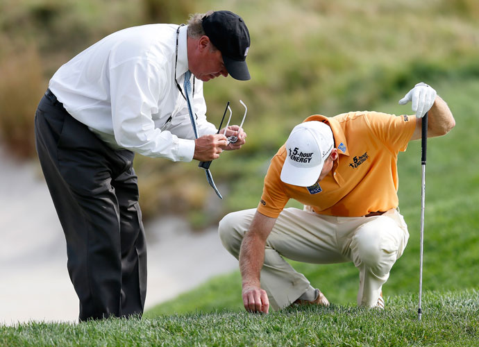 "Do you know the rules better than your caddy?                          PGA Tour pro responses:                          YES: 54 percent                          NO: 27 percent                          SAME: 12 percent                          DON'T KNOW: 7 percent                          Champions Tour responses:                         YES: 78 percent                          NO: 14 percent                          SAME: 8 percent                          OFF THE RECORD:                         ""We both call the official."""
