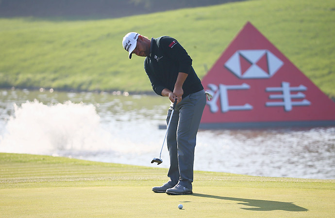 Ryan Moore did not play well, finishing with a 74.