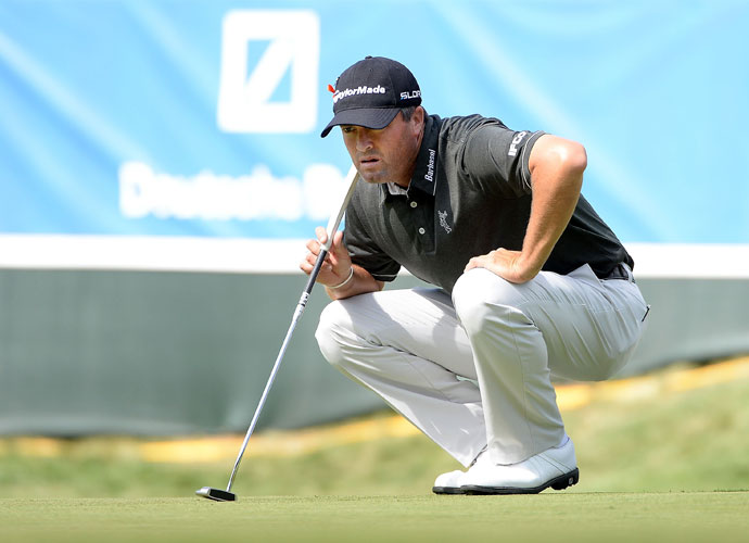 Round 1                         Ryan Palmer cruised to a two-shot lead after the first round with a near-flawless 63. He birdied 7 of his final 13 holes.