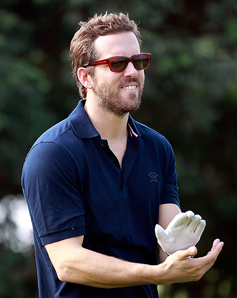 Canadian actor Ryan Reynolds also participated in the World Celebrity Pro-Am.