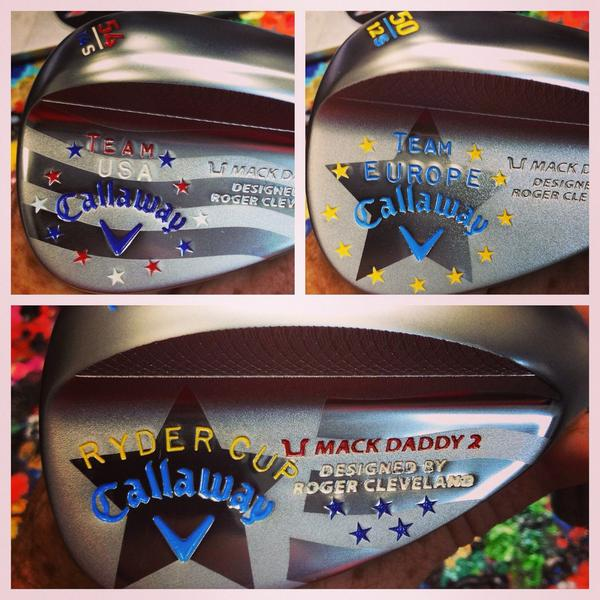 Callaway Mack Daddy 2 wedges made to commemorate this year's Ryder Cup at Gleneagles in Scotland.