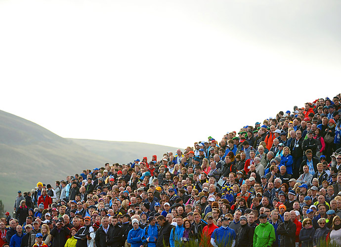 A view of the spectators Saturday at Gleneagles.