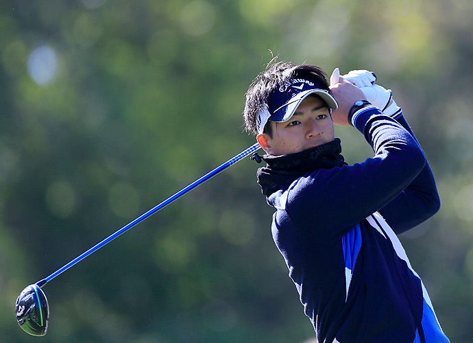 Ryo Ishikawa is tied with a large group of players at even par.