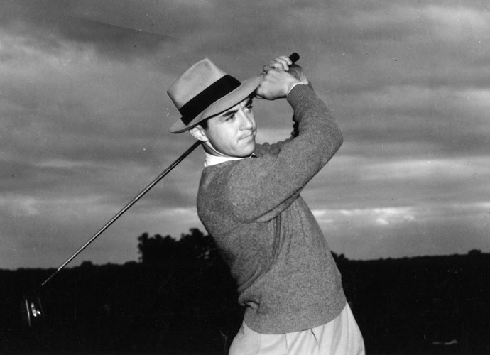 "Author of 82 PGA Tour victories, Slammin' Sammy was an accurate and long driver, thanks to his fluid motion. ""This fellow has the best swing I ever saw,"" Bobby Jones said."