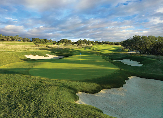 11. TPC San Antonio (AT&T Oaks) in San Antonio, Tex.: Slender fairways, steep bunkers and abundant oaks define this 2010 collaboration with Sergio Garcia that serves as home to the PGA Tour's Valero Texas Open. Small, severely sectionalized greens, heavy contour around the greens and a bunker jabbed into the middle of the 16th green are among the design gambits that vex the pros.