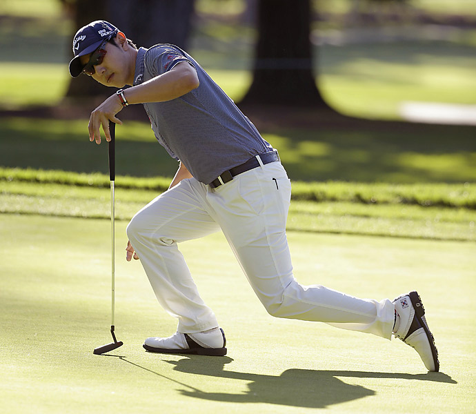 Sang-Moon Bae also shot a 66 for a share of the lead.