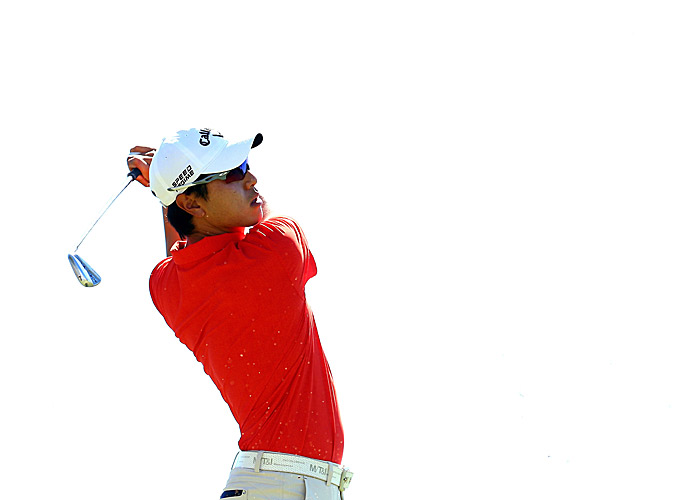 Sang-Moon Bae grabbed the first-round lead with a seven-under 63.
