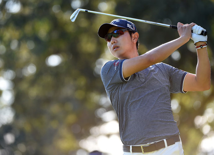 Sang-Moon Bae was a shot behind leader Martin Laird after a second-round 69.