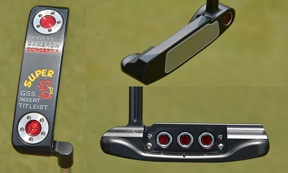 This putter, a Scotty Cameron for Titleist Super Rat, features an ultra-soft and ultra-expensive German Stainless Steel insert. It will not be available at retail.