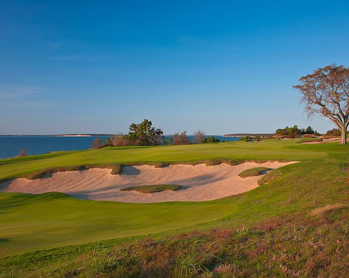The 18th hole at Sebonack Golf Club.
