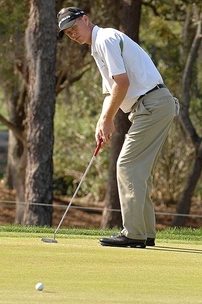 John Senden did not get this putt to fall, but a final round 66 lifted the Australian from T14 to T2.
