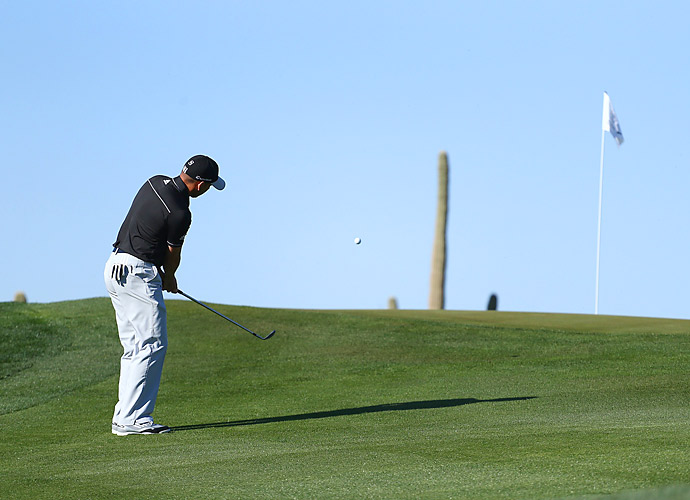 Sergio Garcia easily dispatched Bill Haas 3 and 1.