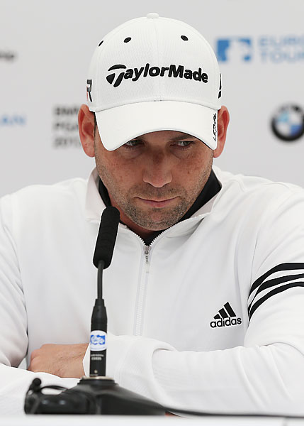 In a now-infamous response to a softball question, Garcia cracks that he plans to have Woods over for dinner every night during the U.S. Open. Sergio promises to serve fried chicken, only to end up eating crow. He apologized during a press conference at the European Tour's BMW PGA Championship.