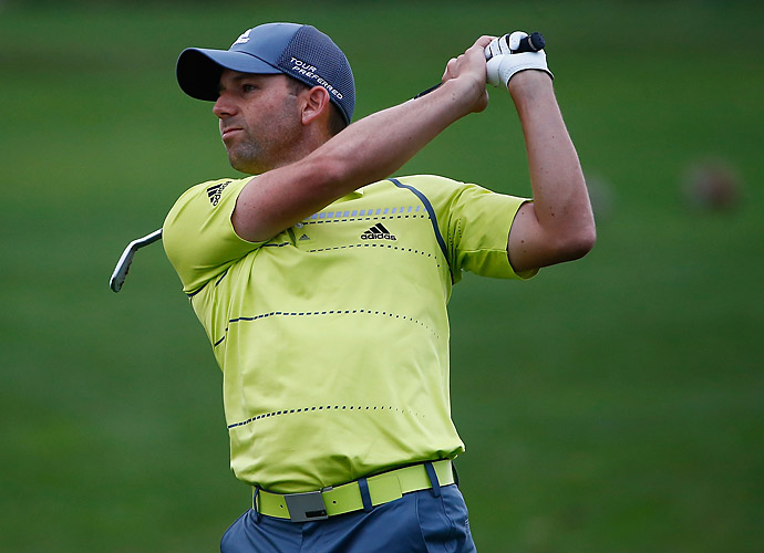 Sergio Garcia struggled to a 72.