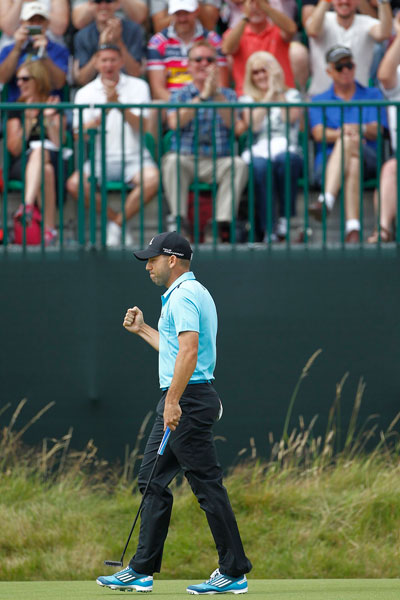 Sergio Garcia saved his best for the final round, shooting a 66 on Sunday. The runner-up finish was his fourth career second-place finish in a major.