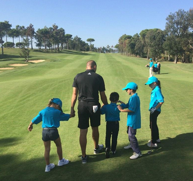 @TheSergioGarcia Amazing day with my foundation @PGA_Catalunya, awesome to see all the kids enjoying their golf!!