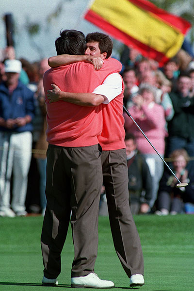 Ballesteros and Olazabal's partnership combined two of the best short-game players in the world. In the 1993 Ryder Cup at the Belfry, Ballesteros and Olazabal went 2-1 as a team.