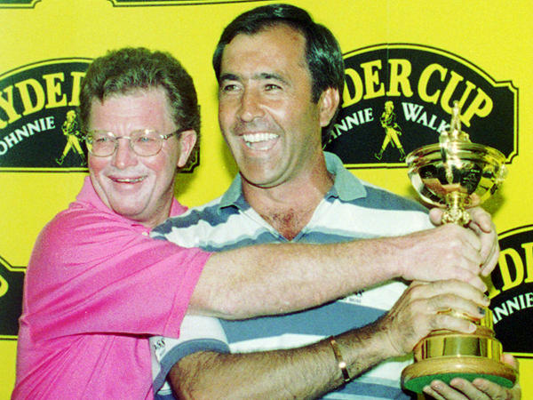 Seve wrestled with U.S. captain Tom Kite in advance of the 1997 Ryder Cup, where Ballesteros captained Europe to victory in Spain, his home turf.