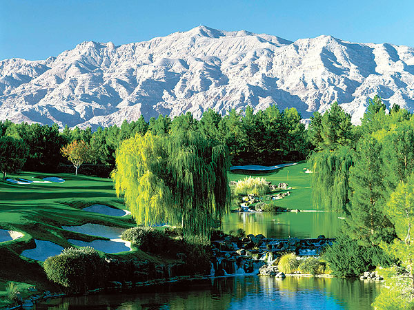 7. Shadow Creek                     North Las Vegas, Nev.                     527 yards, par 5                     702-791-7161, shadowcreek.com                     $500                     Architects: Tom Fazio and Steve Wynn                     The ultimate gambler's par 5 is right at home in the ultimate gambler's town. From a flat expanse of denuded desert, Fazio crafted 18 winners, culminating in the finale, which features an elevated tee and three lakes that separate pretenders from playahs. Even a lay-up second must flirt with water on the approach.