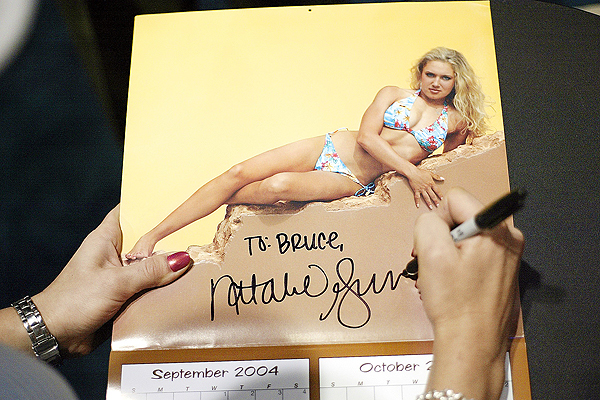 Natalie Gulbis's calendars have been a hit for years, and she happily autographs them for fans at shows throughout the country.