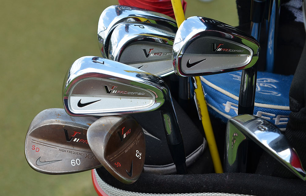 Simon Dyson is competing in his first Players Championship. He plays Nike's VR Pro Combo irons and VR Pro Forged wedges.