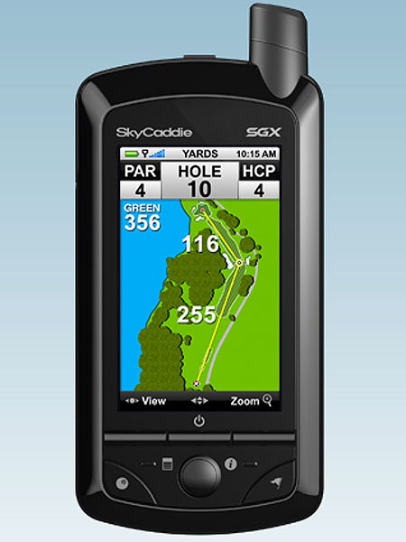 Sky Caddie SGX, $349, skygolf.com                       This GPS unit can store as many as 30,000 ground-verified course maps. The 3-inch color LCD screen is easy to see in sunlight and golfers can navigate the system using just one hand. Not only does the SGX tell you how far away hazards are, the IntelliGreen feature displays the exact shape of the green automatically and rotates it based on your angle of approach. For a limited time, you can get $100 in Dining Dough Gift Certificates free with your purchase of an SGX or SG5 and any level Silver Advantage Membership.