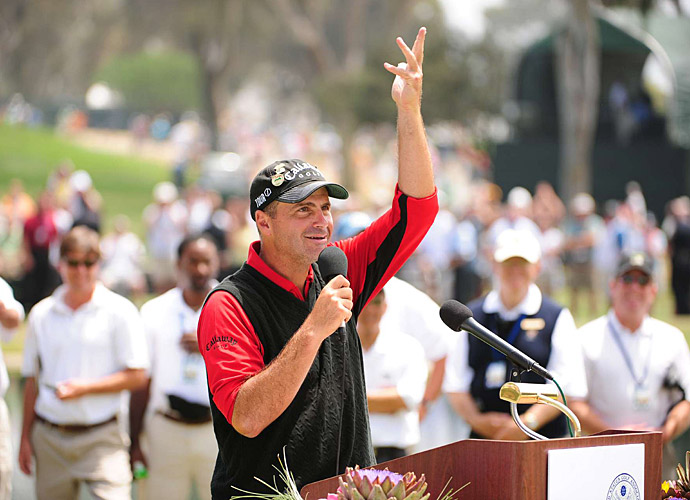 June 2008: Rocco Mediate wins the U.S. Open by one shot over Lee Westwood, becoming an Everyman hero to all eleven people watching around the world.