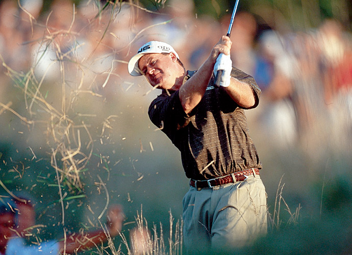 August 2000: City officials in Lynwood, California stage a ticker-tape parade for native son and conquering hero Bob May, winner of the PGA Championship at Valhalla.