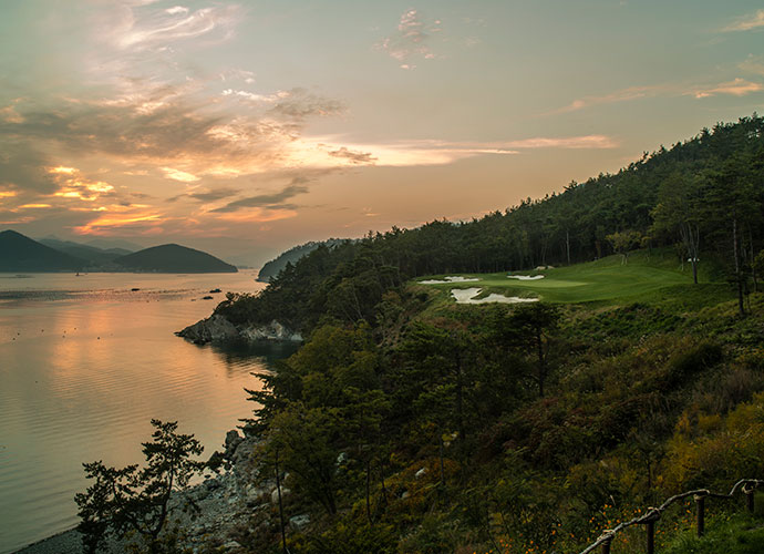 South Cape Golf Club, South Gyeongsang Province, South Korea                       Nestled along the rugged coastline of Namhae Island in southeast Korea, this year-old layout features mountain backdrops and ocean vistas from every hole. It also features a thoughtful Kyle Phillips design that incorporates strategic options, stylish bunkers and granite outcroppings.
