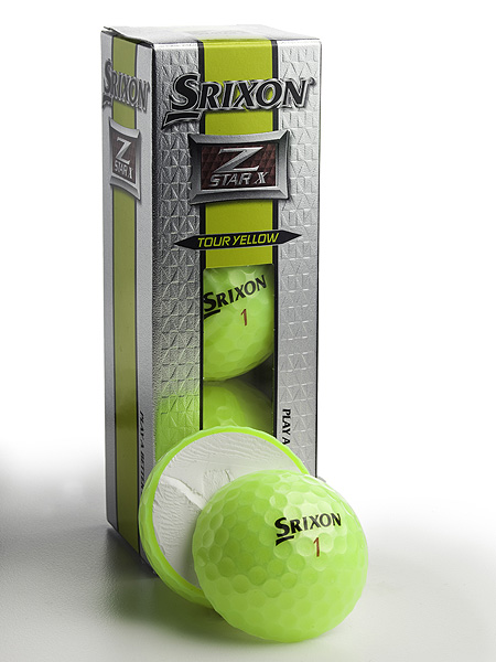 "$40/dozen; golf.com/srixon                                              It's for: Highly-skilled players with                       swing speeds of 105+ mph                                              Technology: Same construction                       (urethane cover, mantle layer and core                       that graduates from soft center to firmer                       perimeter) and performance as the current                       Z-Star X. Yellow paint job has a hint of                       green in it. According to Srixon, the yellow                       ball is easier to see in flight than white,                       while green has a calming influence.                                              Ball-fitting options: Snazzy                       ""ball selector"" tool at srixon.com,                       plus in-store fitting chart.                                              What else is new: The Z-Star Tour                       Yellow ball has a slightly softer                       cover for softer overall feel."