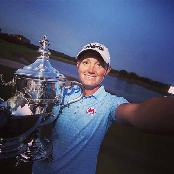 "Stacy Lewis was the biggest winner on the LPGA this year. This was @lpga_tour's last selfie post of 2014: ""#LPGAWinnerSelfie with Stacy Lewis - our final selfie of the year!"""