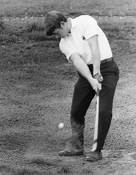 After growing up in Kansas City, Watson -- pictured here in 1969 -- went on to play collegiate golf at Stanford, where he was named a second team All-American in 1969, 1970 and 1971.