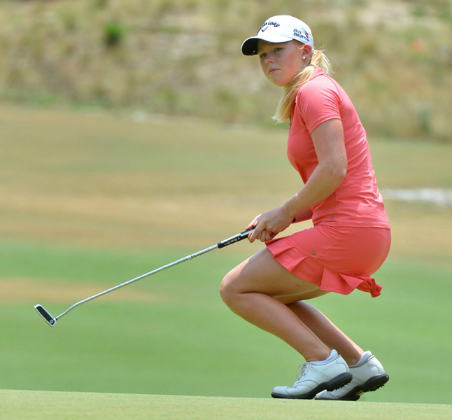 In her pro debut, Northern Ireland's Stephanie Meadows closed with a 1-under 69 to finish alone in third.