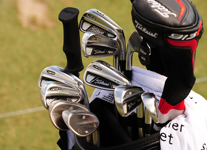 Steve Stricker went with Titleist forged AP2 irons to get around the new Doral.